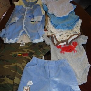 9 piese lot of boy size 6 months